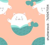 cute seamless pattern with...   Shutterstock .eps vector #765047554