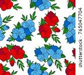 flowers vector illustration.... | Shutterstock .eps vector #765047704