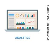 analytics vector illustration.... | Shutterstock .eps vector #765048841