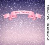 snowfall at dawn snow falls...   Shutterstock .eps vector #765049081