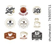 coffee logo   vector... | Shutterstock .eps vector #765055711