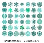 snowflake set.  a collection of ... | Shutterstock .eps vector #765063571