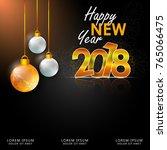 happy new year 2018 vector... | Shutterstock .eps vector #765066475