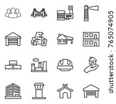 thin line icon set   group ... | Shutterstock .eps vector #765074905