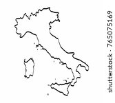 italy map outline graphic... | Shutterstock .eps vector #765075169