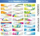mega set of vector headers | Shutterstock .eps vector #76508593