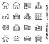 thin line icon set   home ... | Shutterstock .eps vector #765087025