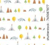 baby seamless pattern   Shutterstock .eps vector #765087877