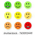 set of smileys mood color on... | Shutterstock .eps vector #765092449