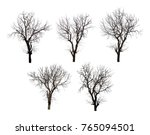 Collection of black tree...