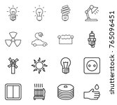 thin line icon set   bulb ... | Shutterstock .eps vector #765096451