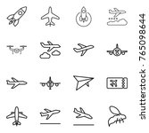 thin line icon set   rocket ... | Shutterstock .eps vector #765098644