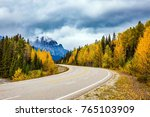 the magnificent highway 93 ... | Shutterstock . vector #765103909
