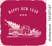 happy new year track front view | Shutterstock .eps vector #765107167
