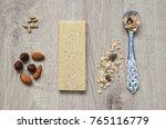 muesli with nuts hazelnuts ... | Shutterstock . vector #765116779
