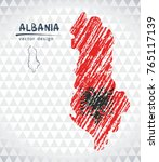map of albania with hand drawn... | Shutterstock .eps vector #765117139