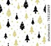 seamless pattern with christmas ... | Shutterstock . vector #765118969