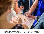 close up of human hands holding ... | Shutterstock . vector #765122989