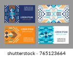 aztec style colorful business... | Shutterstock .eps vector #765123664