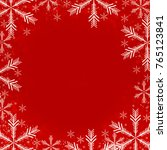 red christmas background with... | Shutterstock . vector #765123841