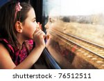 little girl looking through... | Shutterstock . vector #76512511