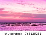 burning skies sunset glow  | Shutterstock . vector #765125251