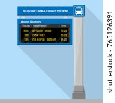 bus stop real time information... | Shutterstock .eps vector #765126391
