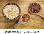 seeds of white  red and black... | Shutterstock . vector #765133375