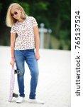 young blonde girl | Shutterstock . vector #765137524