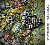 cartoon cute doodles electric... | Shutterstock .eps vector #765143659