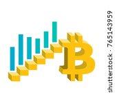 bitcoin growth concept... | Shutterstock .eps vector #765143959