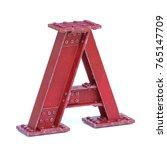 steel i beam font 3d rendering...   Shutterstock . vector #765147709