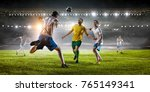 soccer best moments. mixed media | Shutterstock . vector #765149341