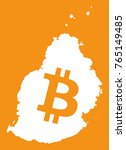 mauritius map with bitcoin... | Shutterstock .eps vector #765149485