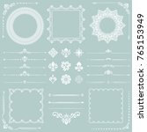 vintage set of vector... | Shutterstock .eps vector #765153949