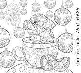 adult coloring page book a cute ... | Shutterstock .eps vector #765154639