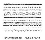 pencil and brush strokes... | Shutterstock .eps vector #765157645