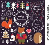 christmas vector collection... | Shutterstock .eps vector #765162067