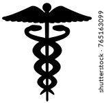 caduceus symbol as silhouette | Shutterstock .eps vector #765163099