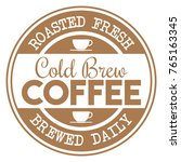 cold brew coffee stamp   Shutterstock .eps vector #765163345