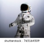 astronaut isolated with... | Shutterstock . vector #765164509
