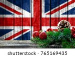 wooden christmas background... | Shutterstock . vector #765169435