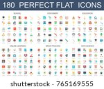 180 modern flat icons set of... | Shutterstock .eps vector #765169555