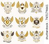 collection of vector heraldic... | Shutterstock .eps vector #765174661