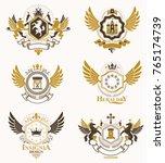 vector classy heraldic coat of... | Shutterstock .eps vector #765174739