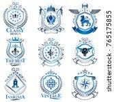 vintage decorative heraldic... | Shutterstock .eps vector #765175855