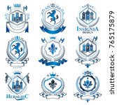 vintage heraldry design... | Shutterstock .eps vector #765175879