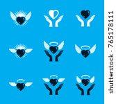 guardian angel vector... | Shutterstock .eps vector #765178111