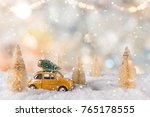 christmas decoration with... | Shutterstock . vector #765178555
