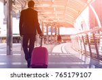 rear of businessman and... | Shutterstock . vector #765179107
